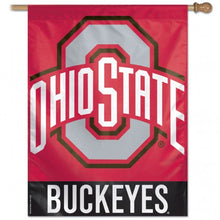 Load image into Gallery viewer, Ohio State University Buckeyes House Flag; Polyester