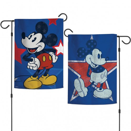 Load image into Gallery viewer, Disney Americana Mickey Mouse Double Sided Vertical Garden Flag; Polyester