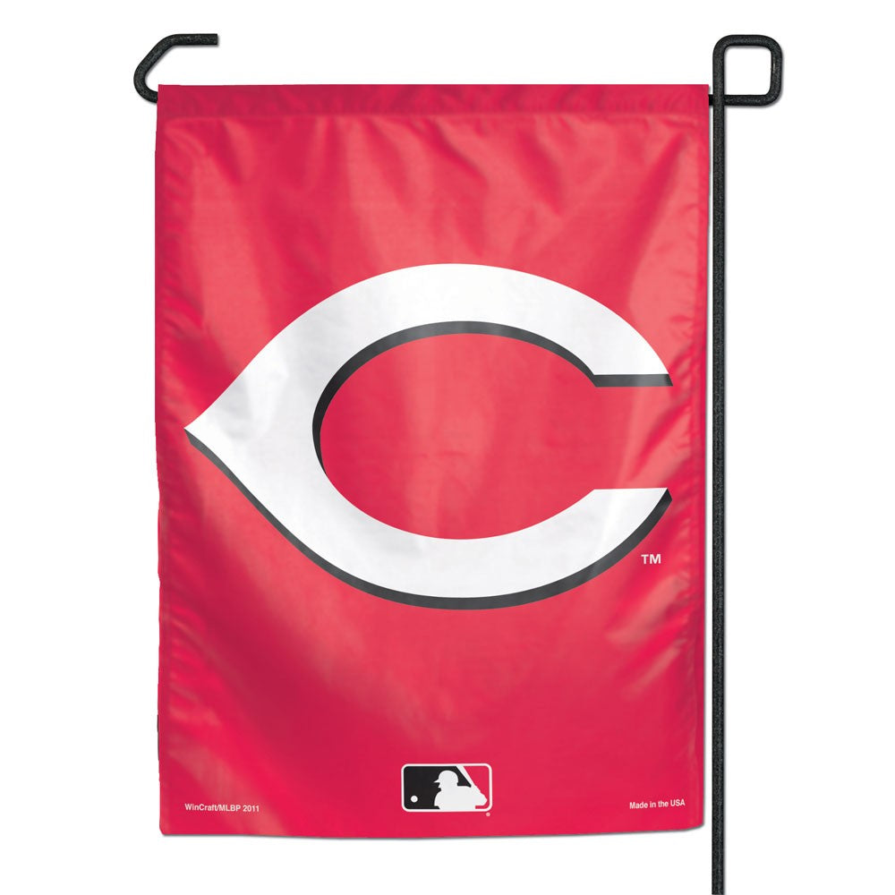 Load image into Gallery viewer, Cincinatti Reds Garden Flag; Polyester