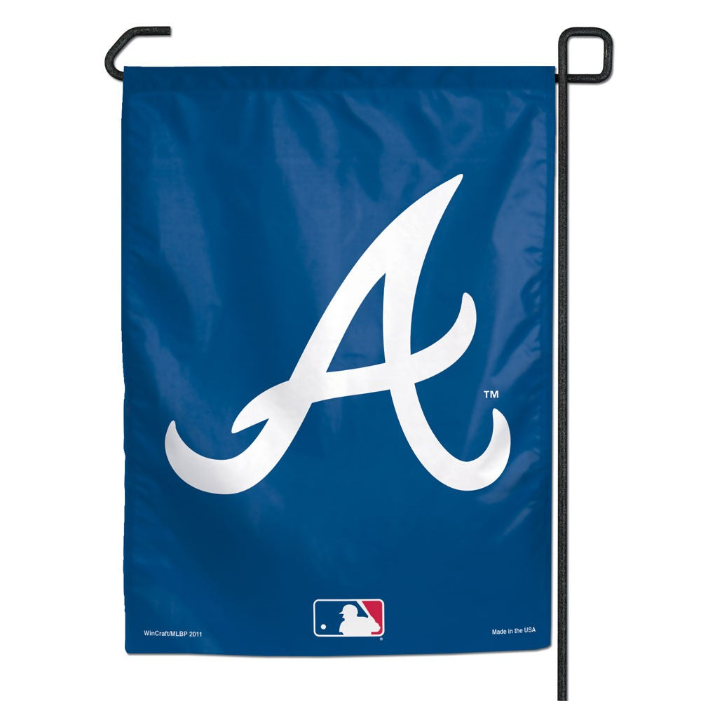 Load image into Gallery viewer, Atlanta Braves Garden Flag; Polyester