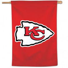 Load image into Gallery viewer, Kansas City Chiefs House Flag; Polyester