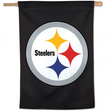 Load image into Gallery viewer, Pittsburgh Steelers House Flag; Polyester