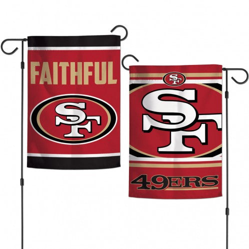 Load image into Gallery viewer, San Francisco 49ers Double Sided Vertical Garden Flag; Polyester