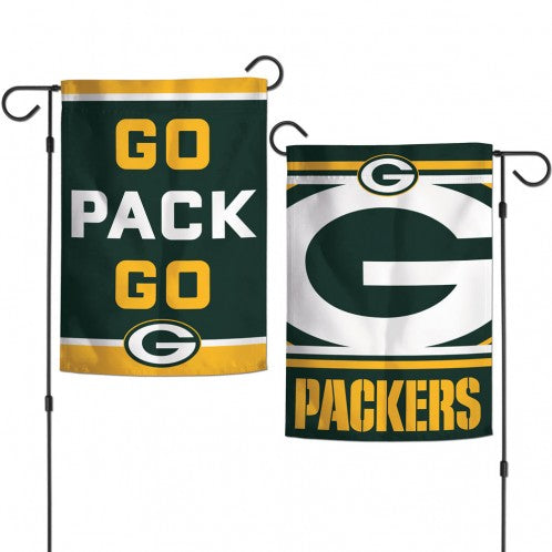Load image into Gallery viewer, Green Bay Packers 2-Sided Vertical Garden Flag; Polyester