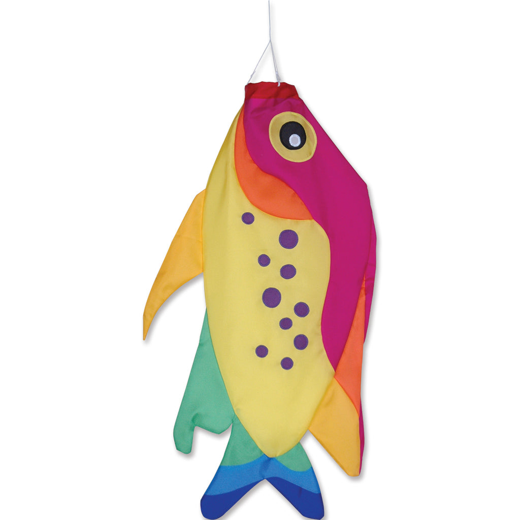 "Load image into Gallery viewer, Rainbow Damsel Fish Windsock; Nylon 36""L"