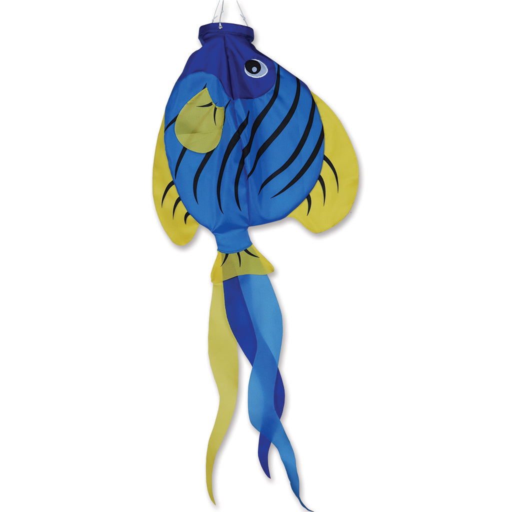 "Load image into Gallery viewer, Striped Angelfish Windsock; Nylon 36""L"