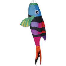 "Load image into Gallery viewer, Rainbow Sergeant Major Fish Windsock; Nylon 52""L"