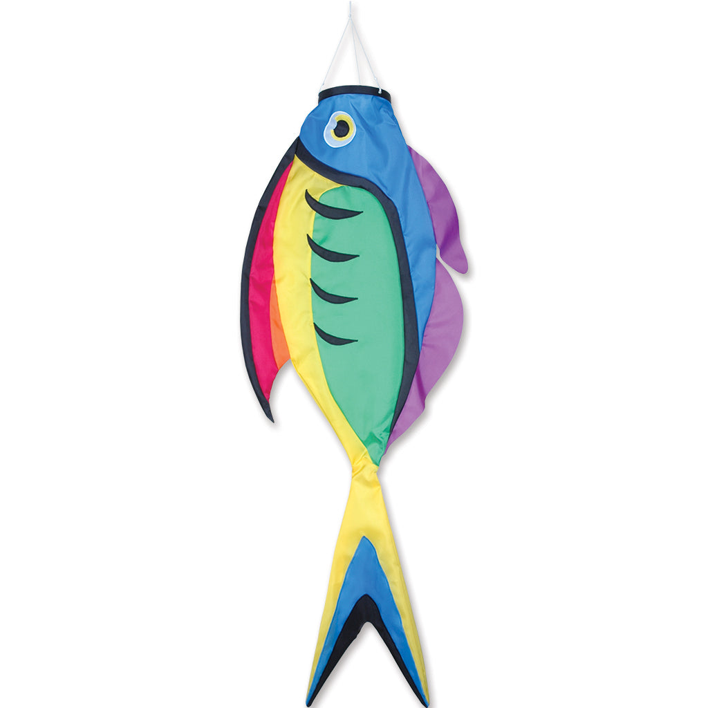 "Load image into Gallery viewer, Rainbow Surgeon Fish Windsock; Nylon 52""L"