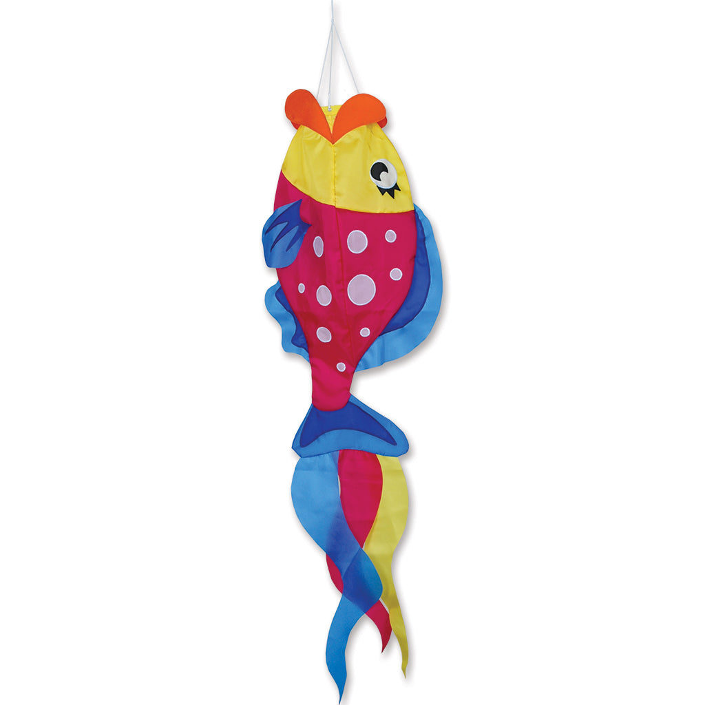 Load image into Gallery viewer, Polka Dot Parrot Fish Windsock; Nylon