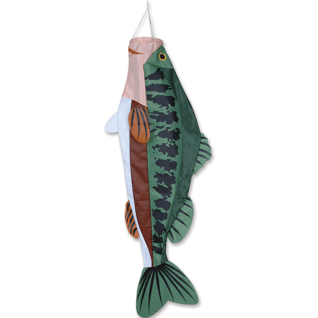 Load image into Gallery viewer, Large Mouth Bass Fish Windsock; Nylon