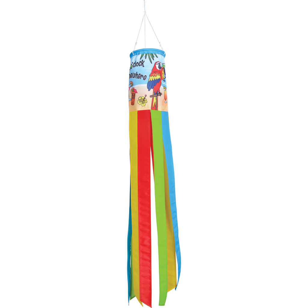 "Load image into Gallery viewer, ""Its 5 OClock Somewhere"" Printed Seasonal Windsock; Polyester"