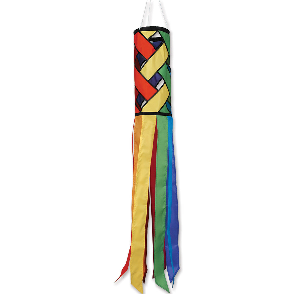 "Load image into Gallery viewer, ""Rainbow Lattice"" Windsock; Polyester"