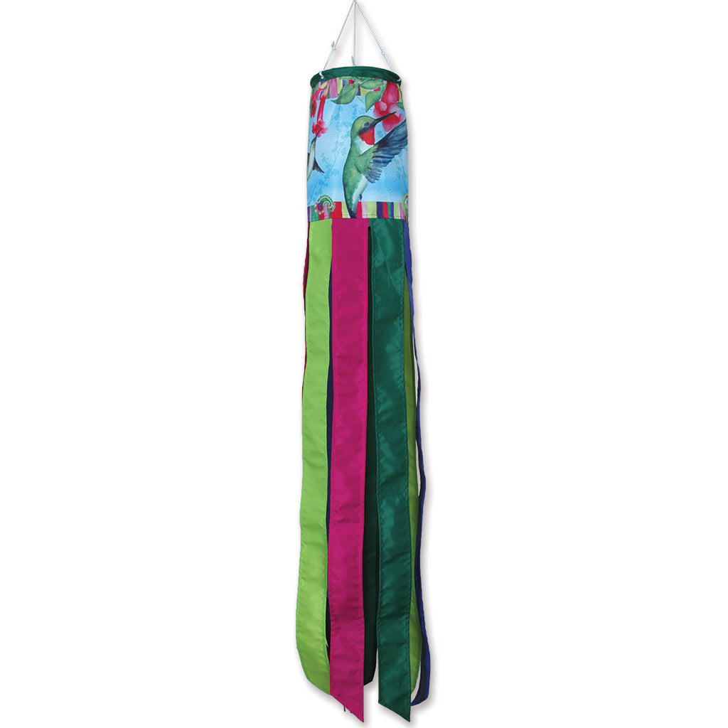 "Load image into Gallery viewer, ""Paisley Hummingbirds"" Windsock; Polyester"