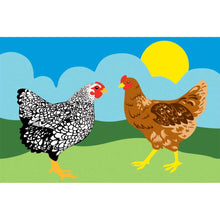 "Load image into Gallery viewer, ""Chickens"" Windsock; Polyester"