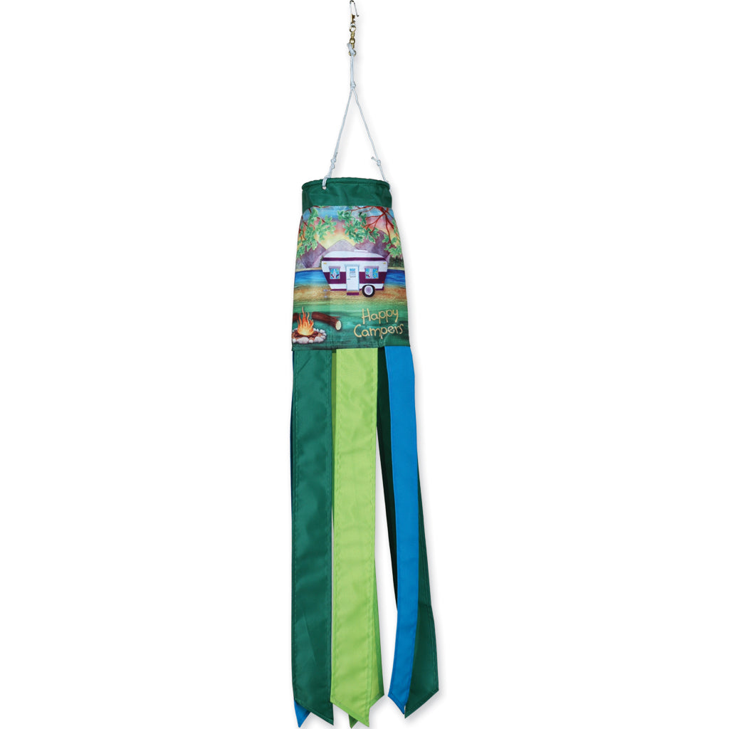 "Load image into Gallery viewer, ""Happy Campers"" Seasonal Windsock; Polyester"