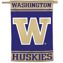 Load image into Gallery viewer, University of Washington Huskies House Flag; Polyester