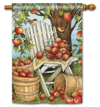 "Load image into Gallery viewer, ""Apples Galore"" Printed Seasonal House Flag; Polyester"