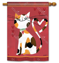 "Load image into Gallery viewer, ""Sweet Kitty"" Printed Seasonal House Flag; Polyester"