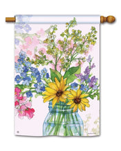 "Load image into Gallery viewer, ""Jars of Sunshine"" Printed Seasonal House Flag; Polyester"