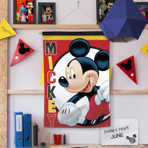 Load image into Gallery viewer, Disney Mickey Mouse Printed Seasonal House Flag; Polyester