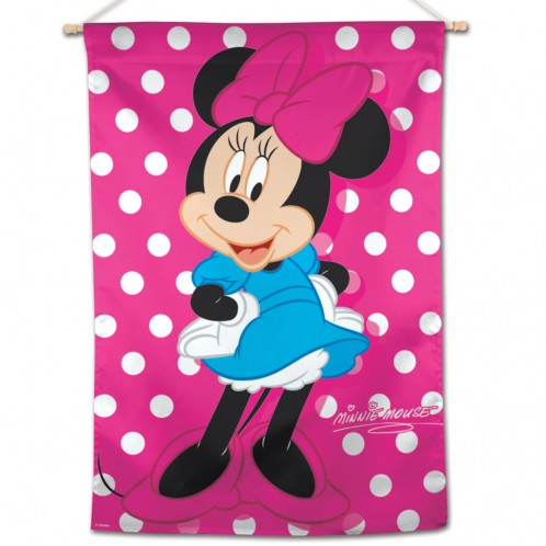 Load image into Gallery viewer, Minnie Mouse Printed Seasonal House Flag; Polyester