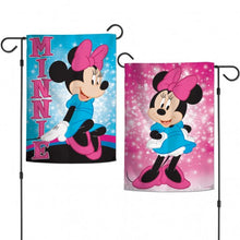 Load image into Gallery viewer, Disney Minnie Mouse Sparkle Double Sided Vertical Garden Flag; Polyester
