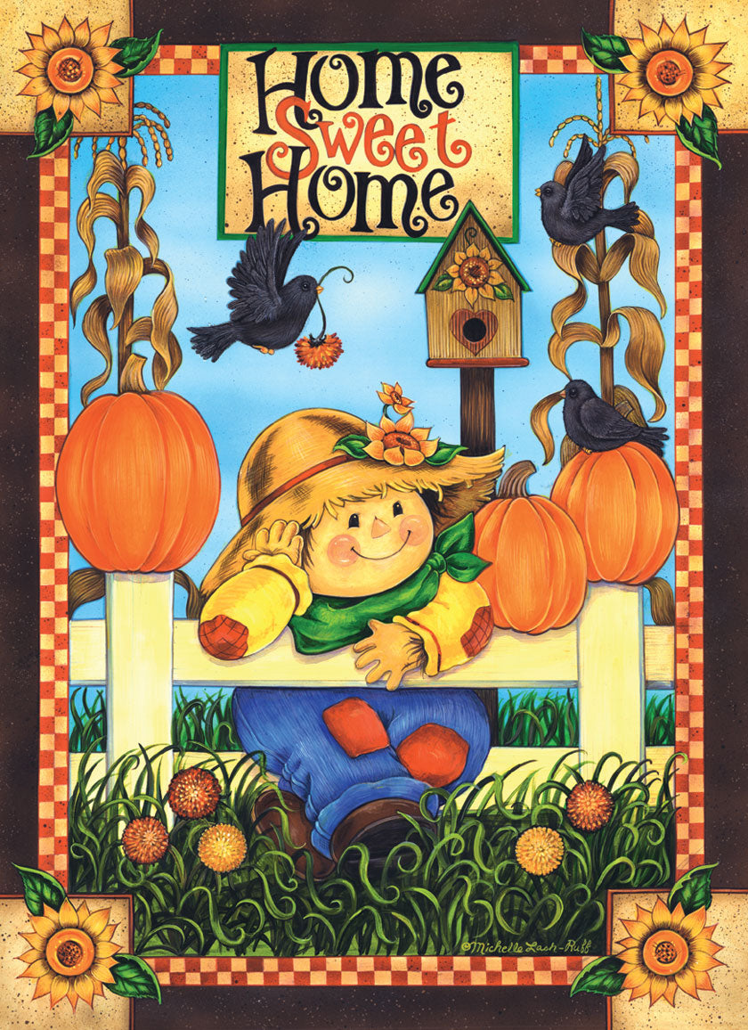 "Load image into Gallery viewer, ""Home Sweet Home"" Printed Seasonal House Flag; Polyester"