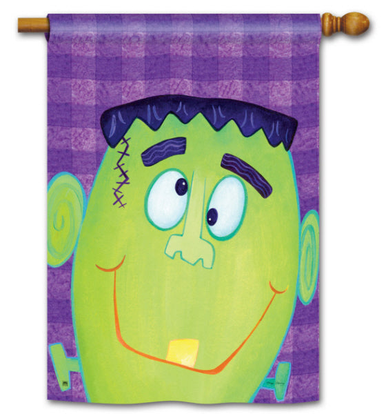 Load image into Gallery viewer, Frankenstein Printed Seasonal House Flag; Polyester