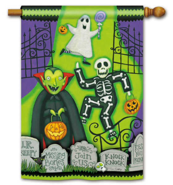 Load image into Gallery viewer, Monster Mash Printed Seasonal House Flag; Polyester