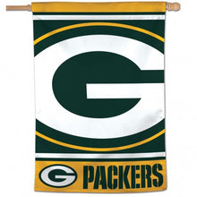 Load image into Gallery viewer, Green Bay Packers Team House Flag; Polyester