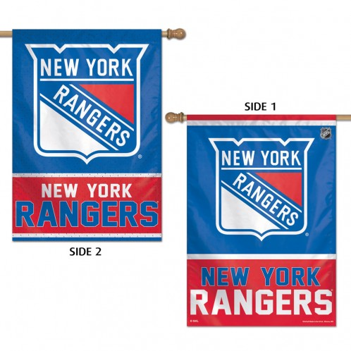 Load image into Gallery viewer, New York Rangers Double Sided House Flag; Polyester