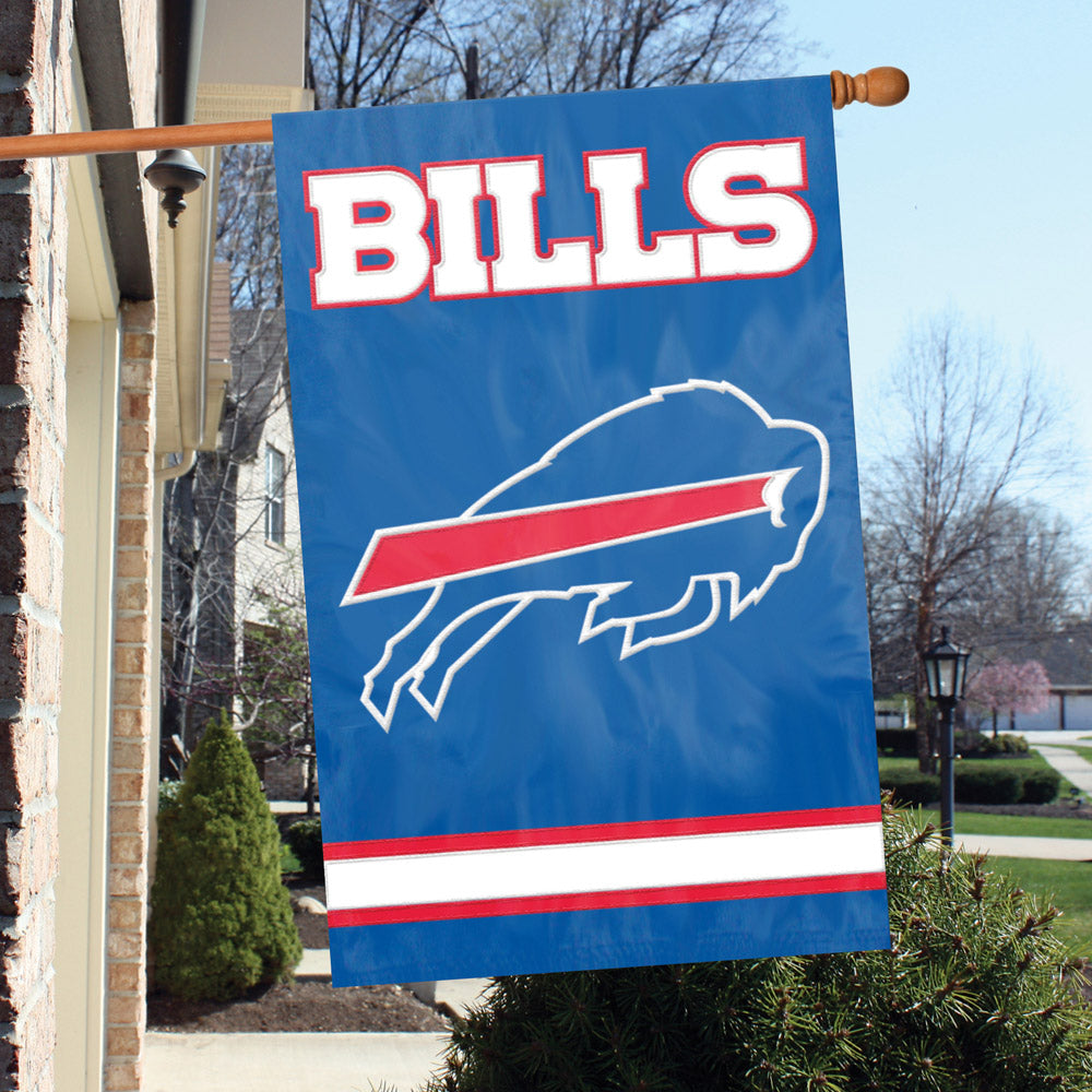 Load image into Gallery viewer, Buffalo Bills Applique/Embroidered Double Sided House Flag