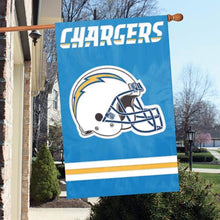 Load image into Gallery viewer, Los Angeles Chargers Double Sided House Flag