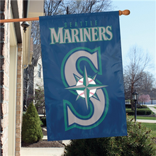 Load image into Gallery viewer, Seattle Mariners House Flag; Polyester
