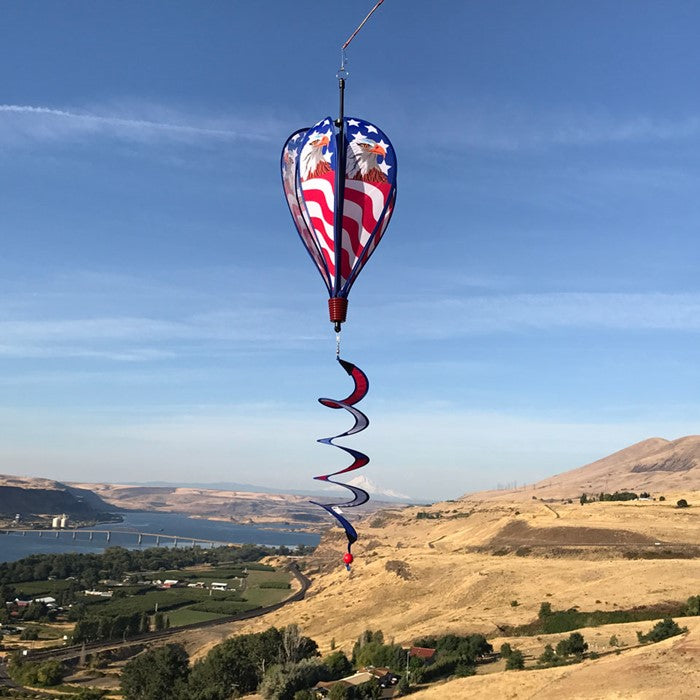 "Load image into Gallery viewer, 12""x42"" Patriotic Eagle Hot Air Balloon"