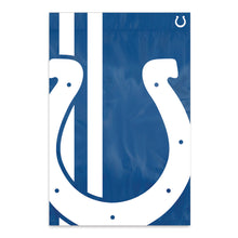 Load image into Gallery viewer, Indianapolis Colts Printed Bold Logo Banner with Sleeve; 420 Denier Nylon