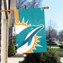 Load image into Gallery viewer, Miami Dolphins Printed Bold Logo Banner with Sleeve; 420 Denier Nylon