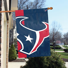 Load image into Gallery viewer, Houston Texans Printed Bold Logo Banner with Sleeve; 420 Denier Nylon