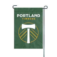 Load image into Gallery viewer, Portland Timbers Applique/Embroidered Garden Flag; 420 Denier Nylon