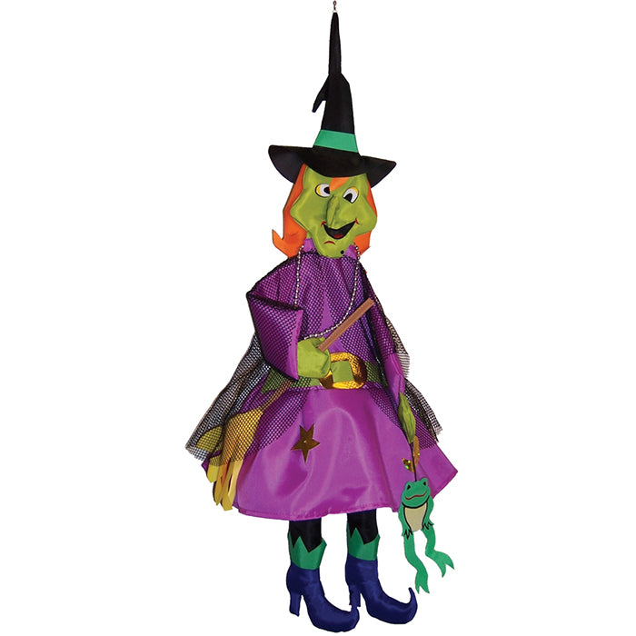 "Load image into Gallery viewer, ""Halloween Witch"" Wind Friend Seasonal Windsock; Polyester"