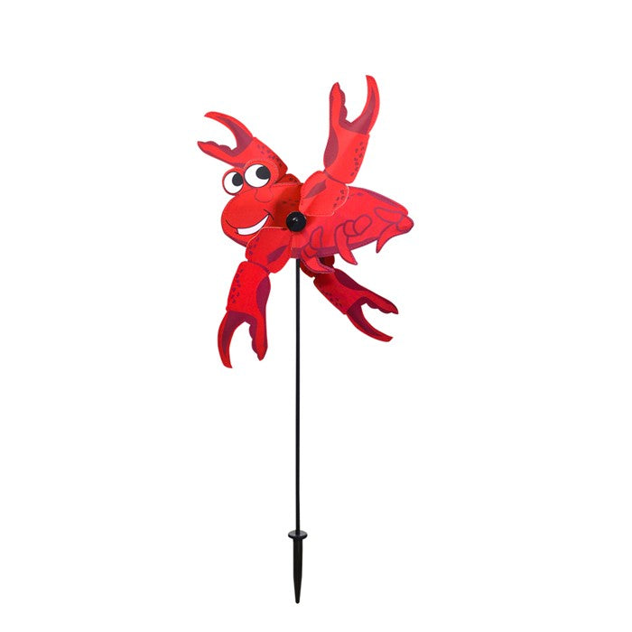 "Load image into Gallery viewer, Red Crab Whirligig Spinner; Nylon 16""x29"", diameter 7"""