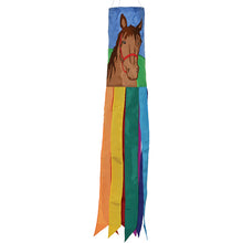 "Load image into Gallery viewer, ""Horse"" Applique Windsock; Polyester"