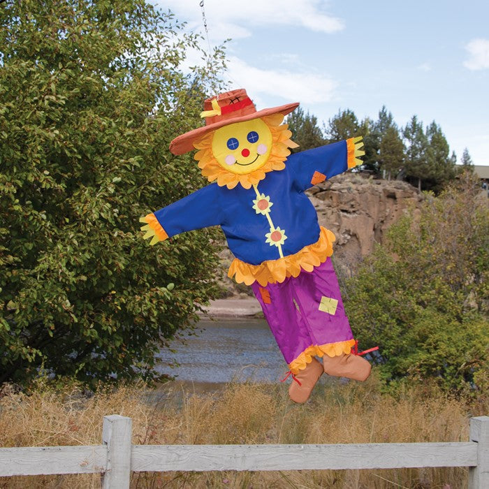 "Load image into Gallery viewer, ""Autumn Scarecrow"" Wind Friend Seasonal Windsock; Polyester"