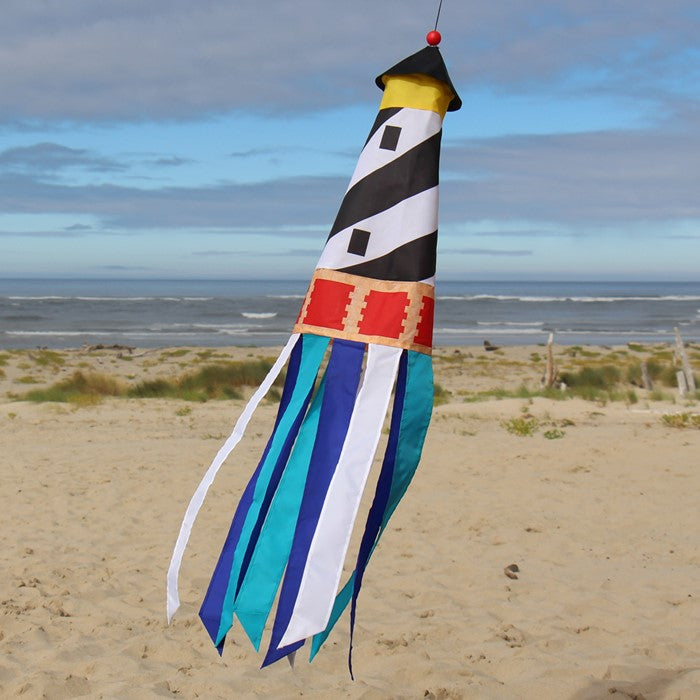 Load image into Gallery viewer, 3D Lighthouse Applique Windsock; Polyester