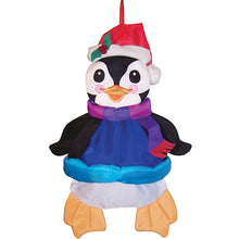 "Load image into Gallery viewer, ""Holiday Penguin"" Wind Friend Seasonal Windsock; Polyester"