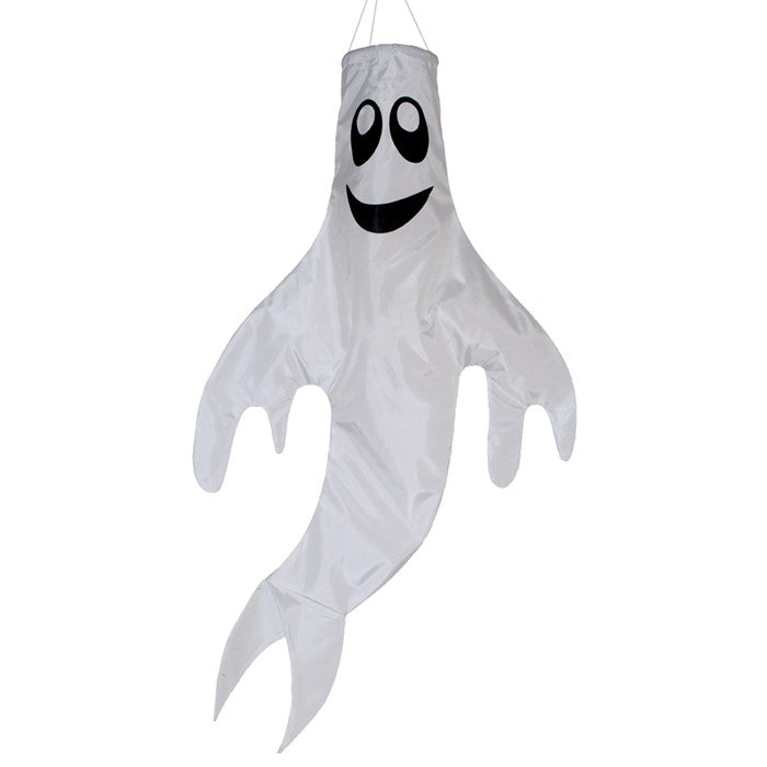 "Load image into Gallery viewer, ""Halloween Ghost"" Seasonal Windsock; Polyester"