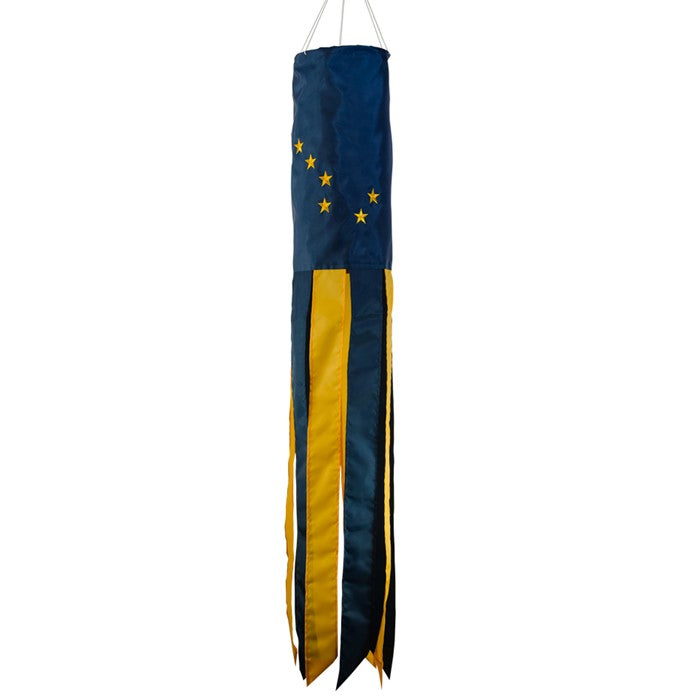 Load image into Gallery viewer, Alaska State Applique Windsock; Polyester