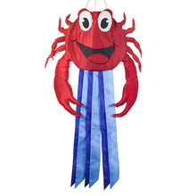 "Load image into Gallery viewer, ""Red Crab"" Seasonal Windtail Windsock; Polyester"