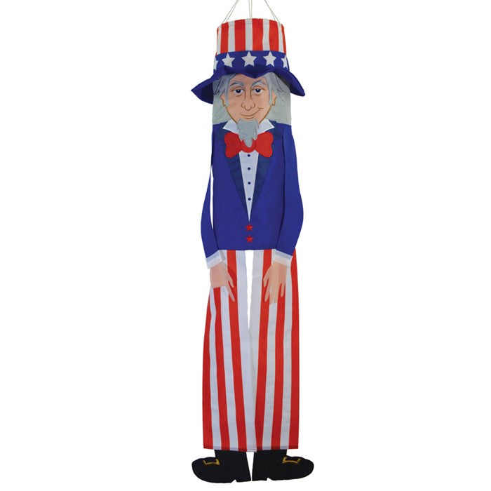 "Load image into Gallery viewer, ""Uncle Sam"" Breeze Buddy Windsock; Nylon"