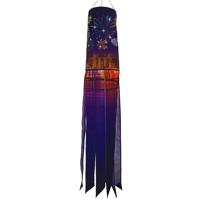 "Load image into Gallery viewer, ""Fireworks"" Windsock; Polyester"